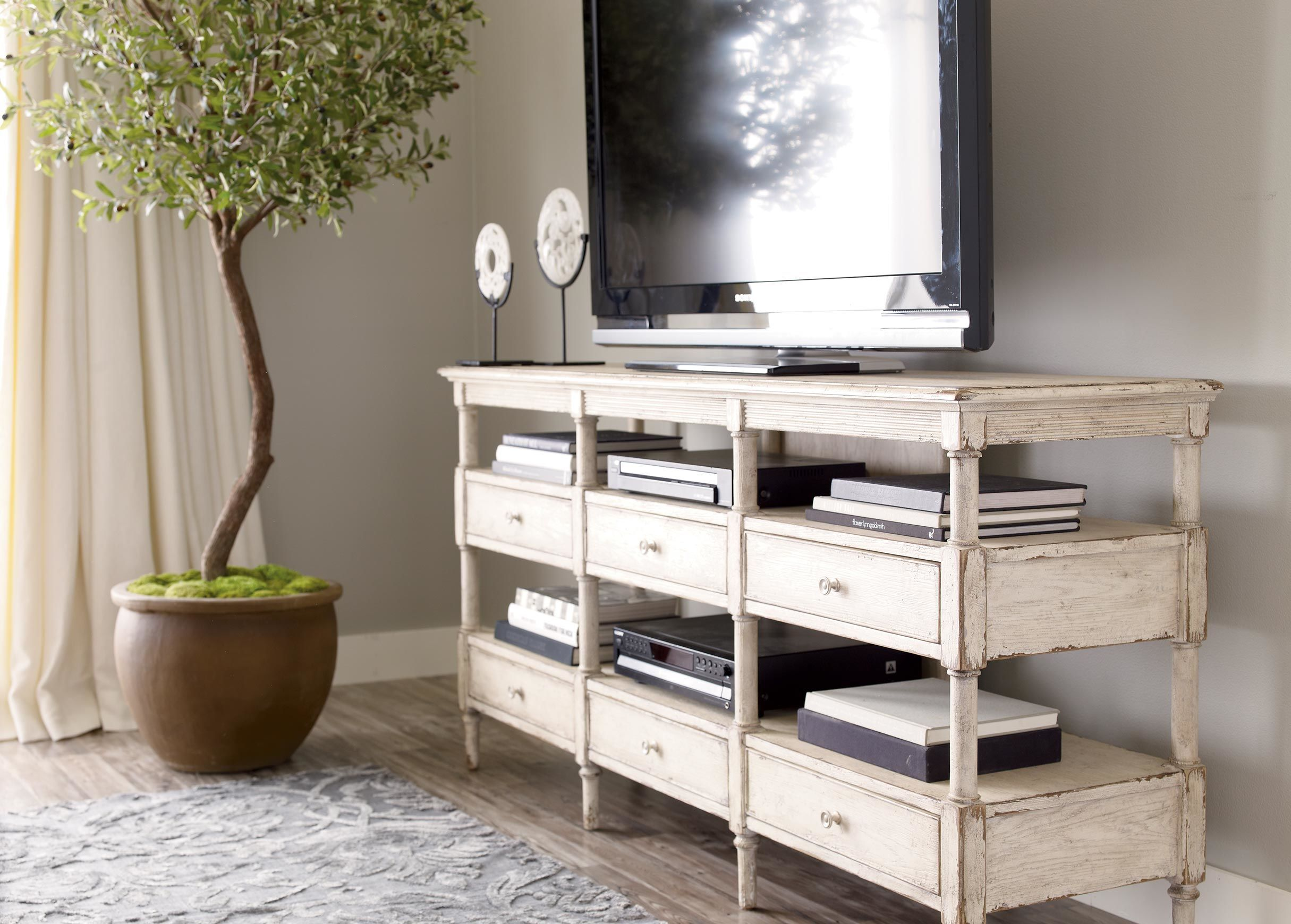 Normandy Media Console TV and Media Cabinets Ethan Allen
