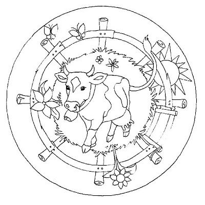 ☮ American Hippie Art ~ Coloring Pages .. Mandala Farm | fiches ps ...