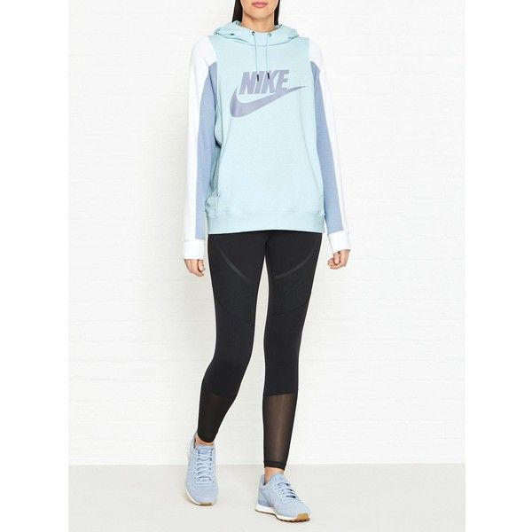 cd399889e089 Nike Sportswear Modern Logo Hoodie ( 45) ❤ liked on Polyvore featuring  tops
