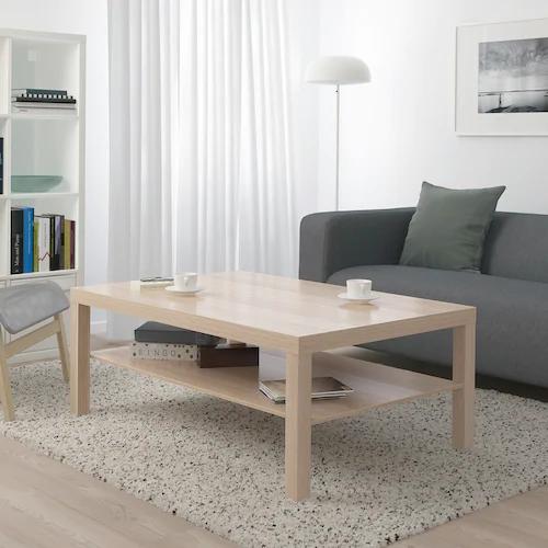 Lack Table Basse Effet Chene Blanchi 118x78 Cm Ikea En 2020 Table Basse Lack Table Basse Salon Ikea