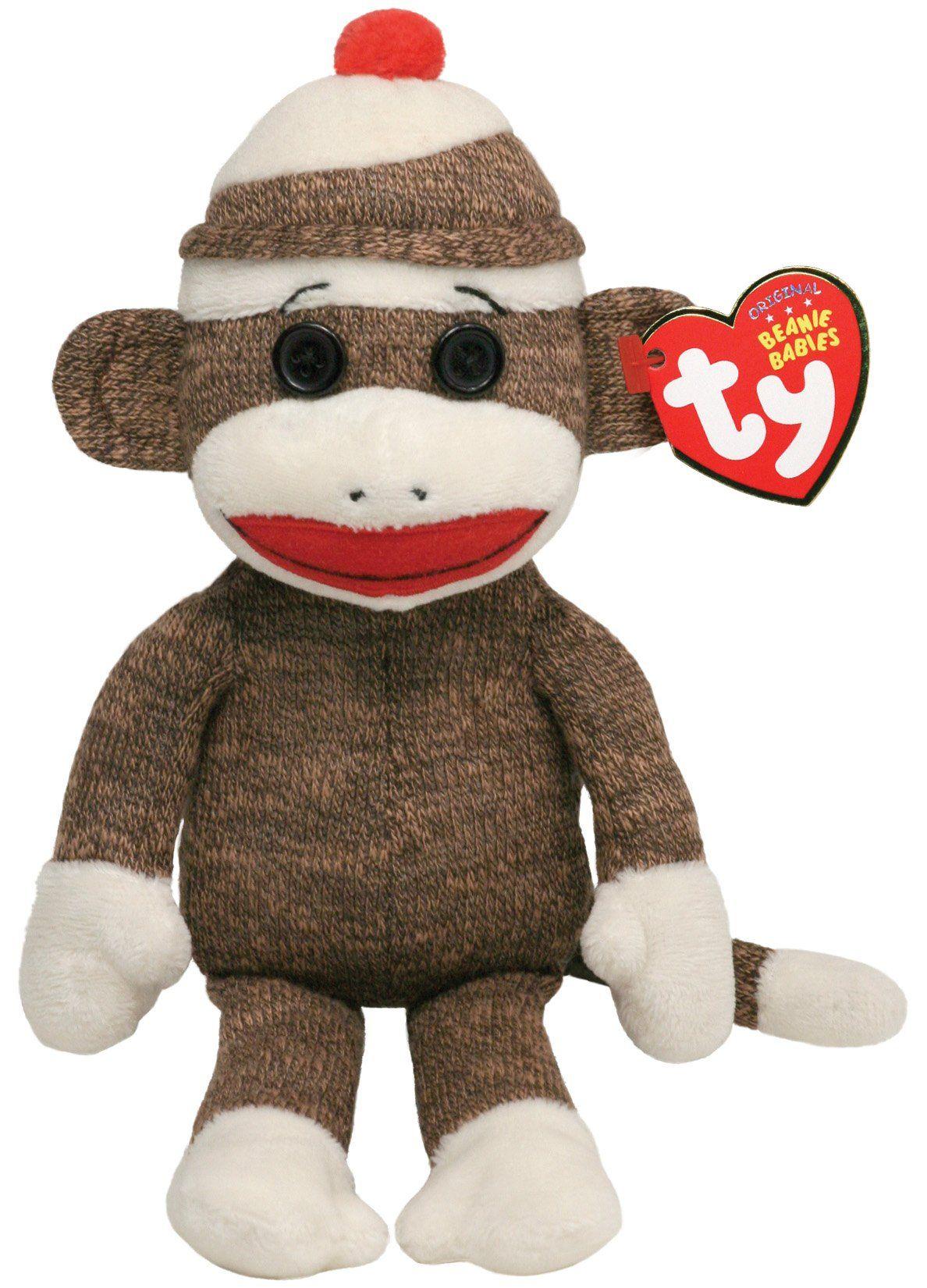 "NEW TY Classic 9/"" Bananas the Brown Monkey Beanie Baby Plush"