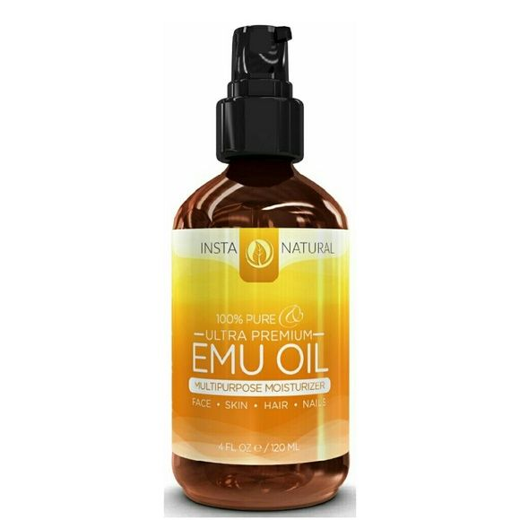 100% Pure Emu Oil Instanatural emu ou for hair, skin, face, stretch marks, scars & more. Great for eczema & nails. Brand new Insta Natural  Makeup