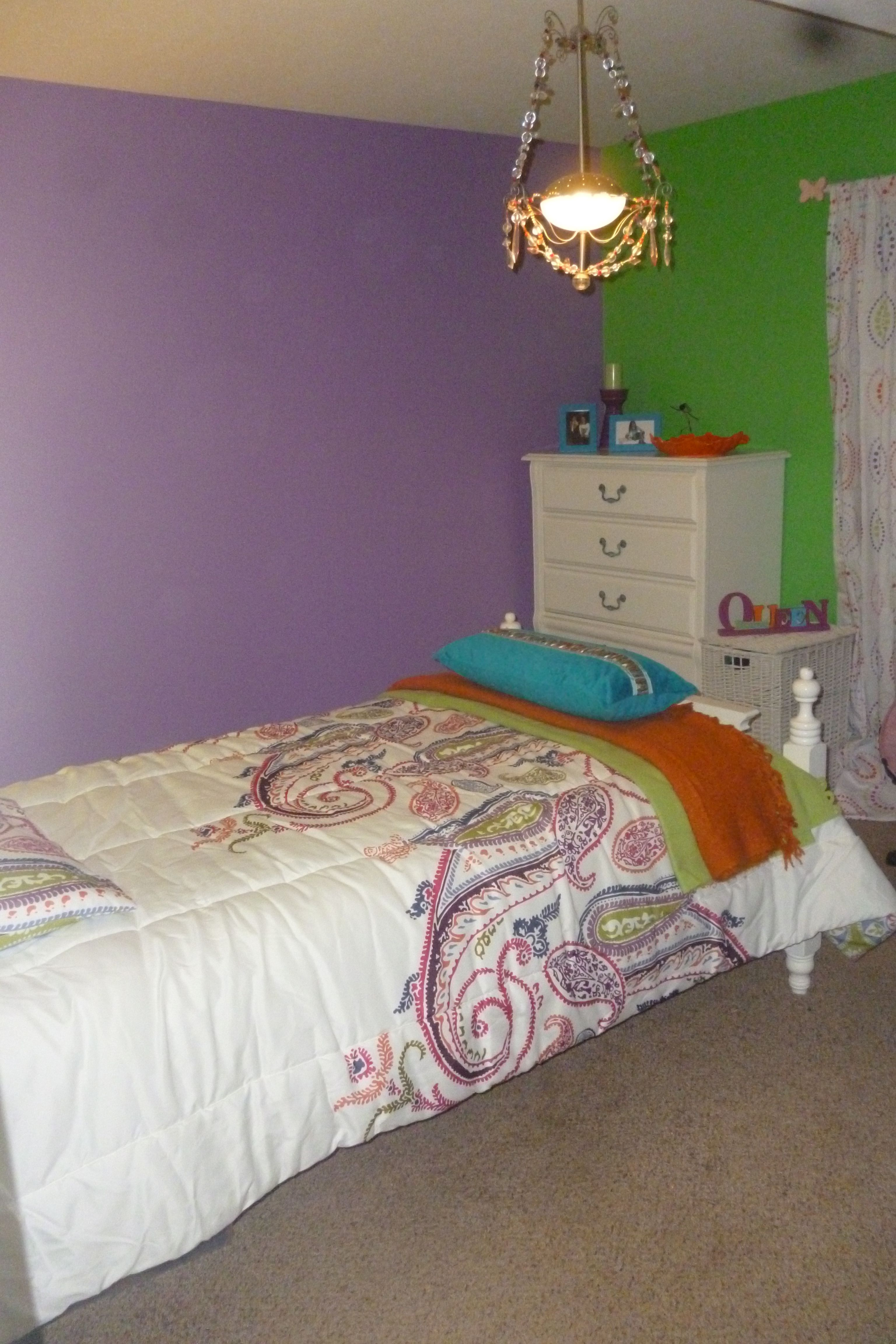 Lime Green And Purple Bedroom Bedroom Green Lime Green Bedrooms