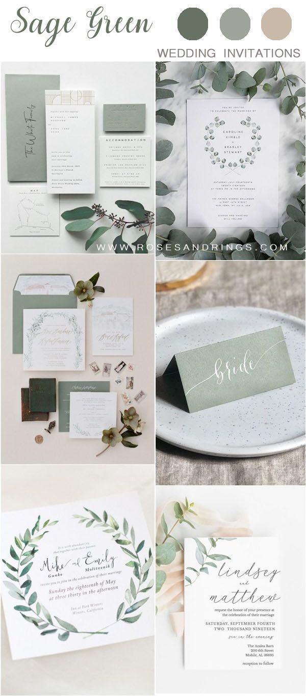 30+ Sage Green Wedding Color Ideas for 2020 | Roses & Rings - Part 2