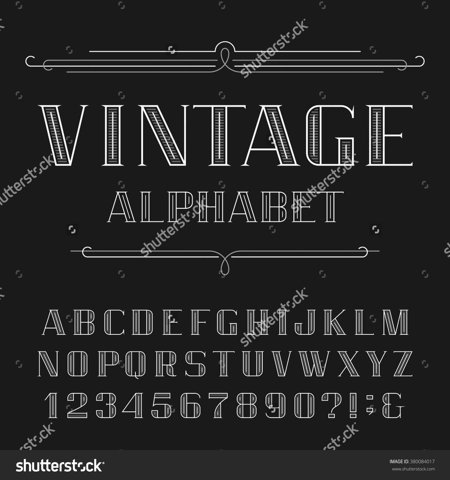 Stock-Vector-Vintage-Alphabet-Vector-Font-Line-Type-Letters-And