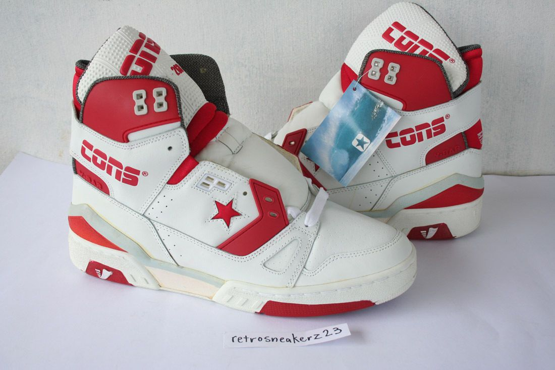c7dff22b67752c 1987 DS Men s Converse Cons ERX 260 Hi Basketball 12 5 White Red Grey Vtg