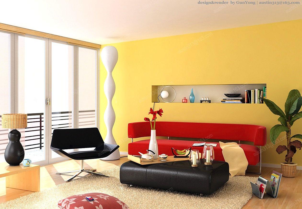 Warna Cat Dinding Ruang Tamu Berwarna Kuning