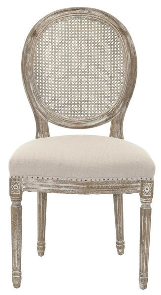 Whitewash French Cane Back Dining Chair Set Of 2