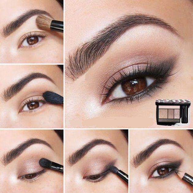 11 Makeup Tutorials For Brown Eyes Fashionsy Com Shimmer Eye Makeup Eyeshadow Tutorial Natural Eyeshadow Tutorial