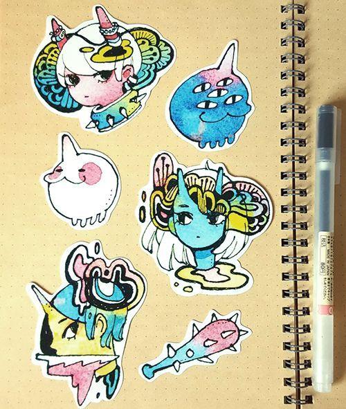 Oni sticker set via koyamori click on the image to see more