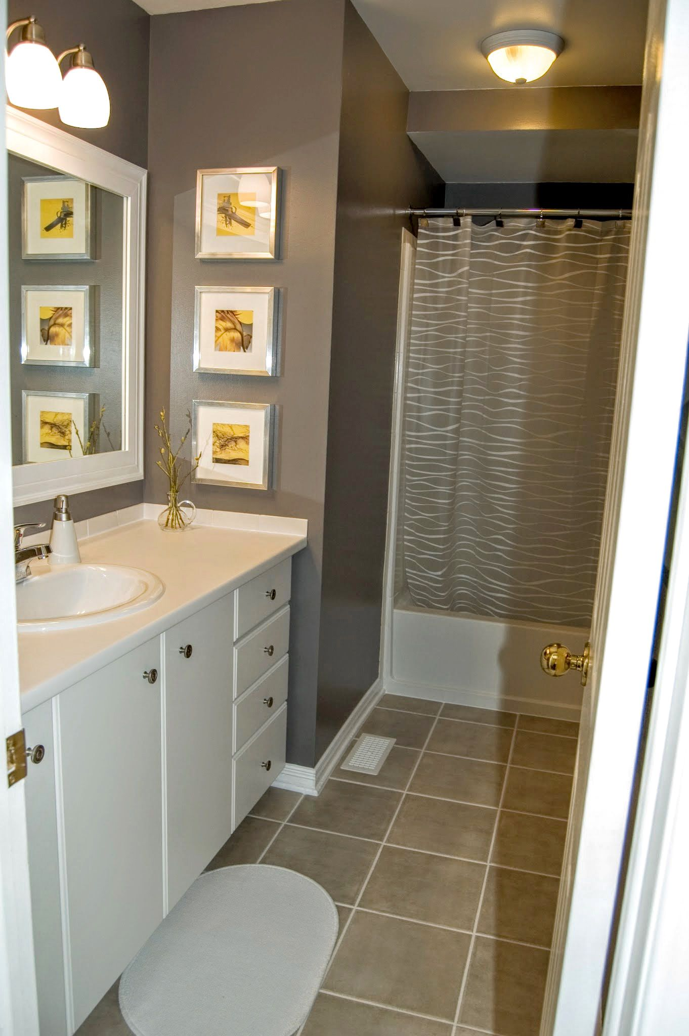 Gray Bathroom With Yellow Accents Gray Yellow Dark Gray
