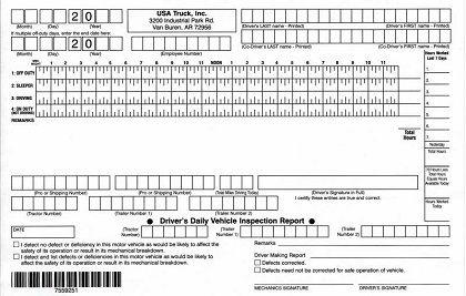 Truck Driver Log Book Truck Driver Trip Planning Template Book Template