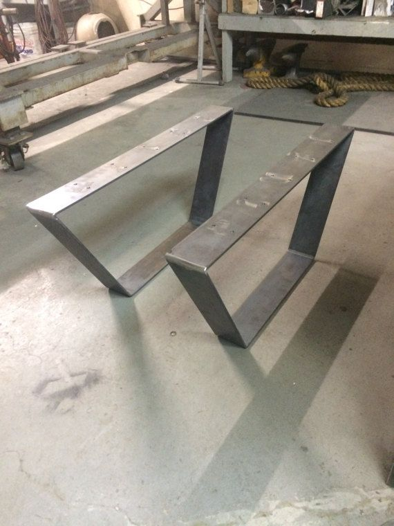 Trapezoid Table Base Legs Bent And Welded To Provide A Stable And - Welded table base