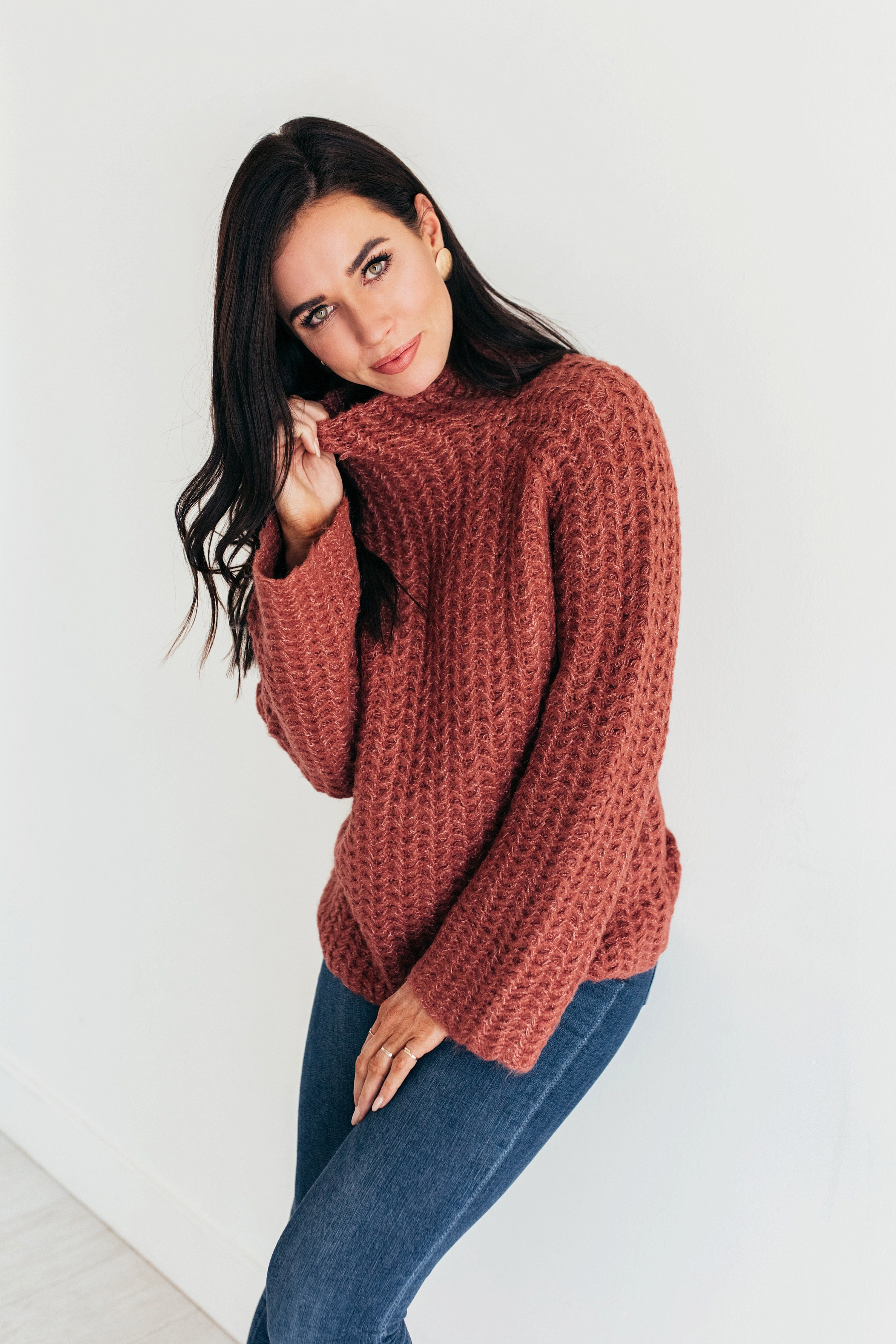 Fabal Turtleneck Men Winter Casual Long Sleeve Solid Knitted Sweater Pullover Tops Blouse