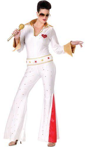 Elvis Presley Adult Men/'s Fancy Dress 50s Party Costume 1950s Outfit