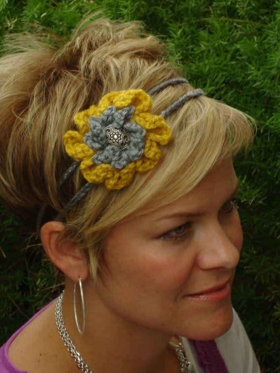 crochet headband | Hair accessories | Pinterest | Banda, Tejido y ...