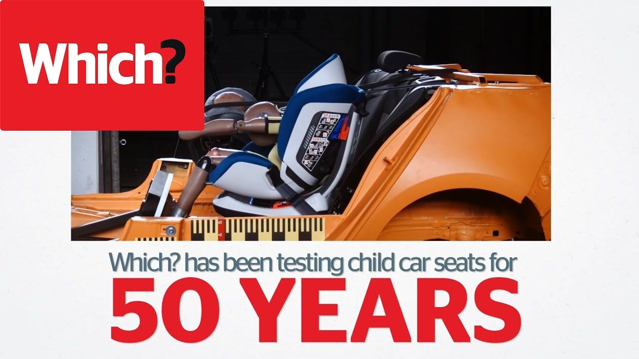 Child car seat testing from babies in boxes to booster