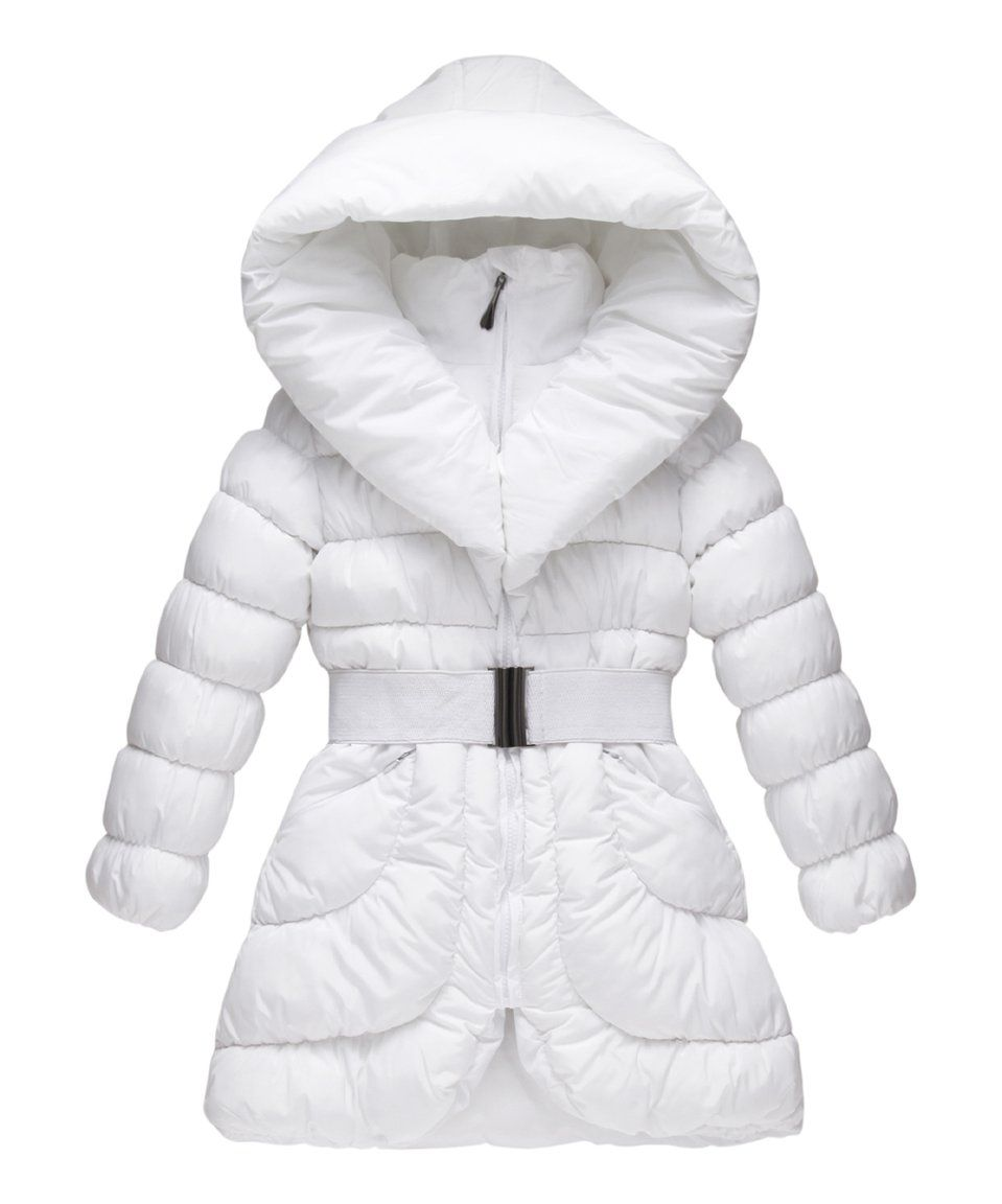 45 Take A Look At This White Buckle Belt Hooded Puffer Coat Toddler Today Kids Coats Girls Puffer Jacket Puffer Coat [ 1152 x 959 Pixel ]