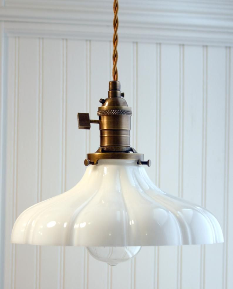 Photo of Sheffield Antique Brass, bare wire, pendant lamp in vintage style. *Free Shipping*