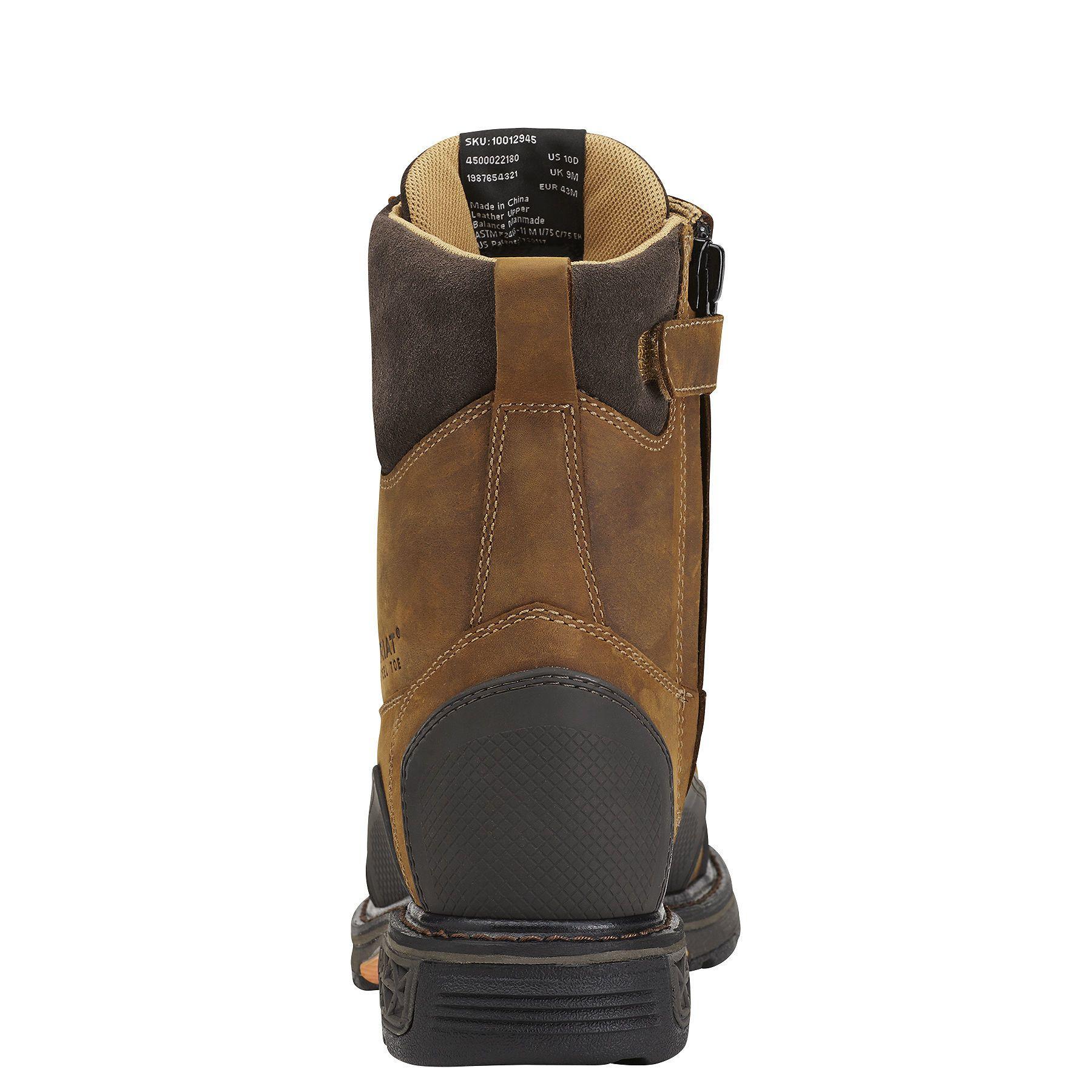 Overdrive Xtr 8 Side Zip Steel Toe Work Boot Steel Toe Work Boots Boots Steel Toe