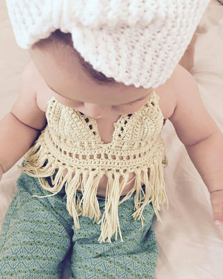 Crochet Baby Bikini Halter Uncinetto Costume Da Bagno Neonato Baby Knitting Crochet Top Women