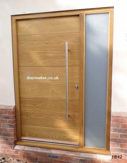 Contemporary front doors  contemporary doors  contemporary oak doors   contemporary iroko doors  UK deliverycontemporary oak door doormaker   Front doors   Pinterest   Doors  . Contemporary Oak External Doors Uk. Home Design Ideas