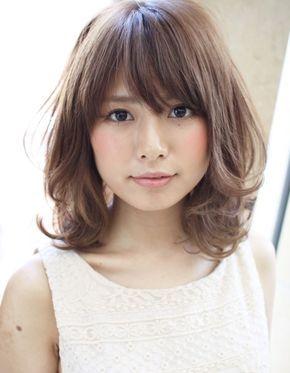 黒髪 暗髪パーマミディアム Hi 21 ヘアカタログ 髪型 ヘア