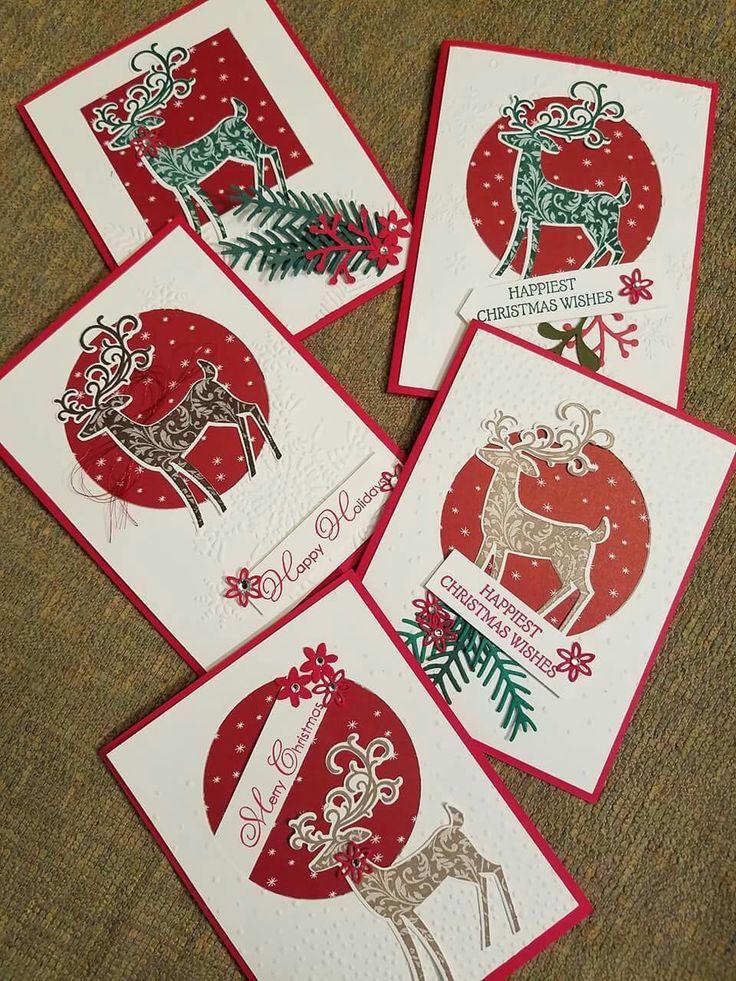 Megumi's Stampin Retreat: Dashing Deer Christmas Wishes Card – October Big S