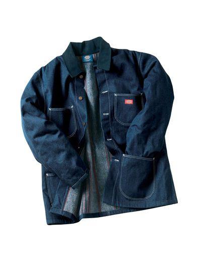 0331a694ccac Dickies Men's Denim Blanket Lined Chore Coat | Militaria, Trains ...