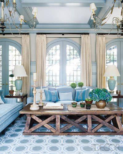 A Tudor Reborn Elle Decor Living Room Home Living Room Designs Living room ideas elle decor