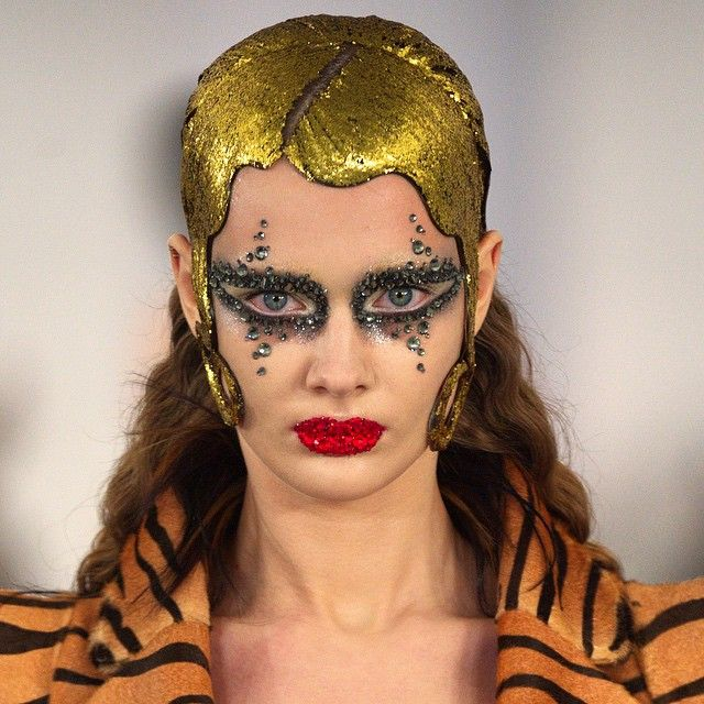 Happy birthday Pat McGrath! In celebration, we look back at one of Pat's beauty creations from our SS15 'Artisanal' show. Cc. @patmcgrathreal  #MaisonMargiela #JohnGalliano #PatMcGrath