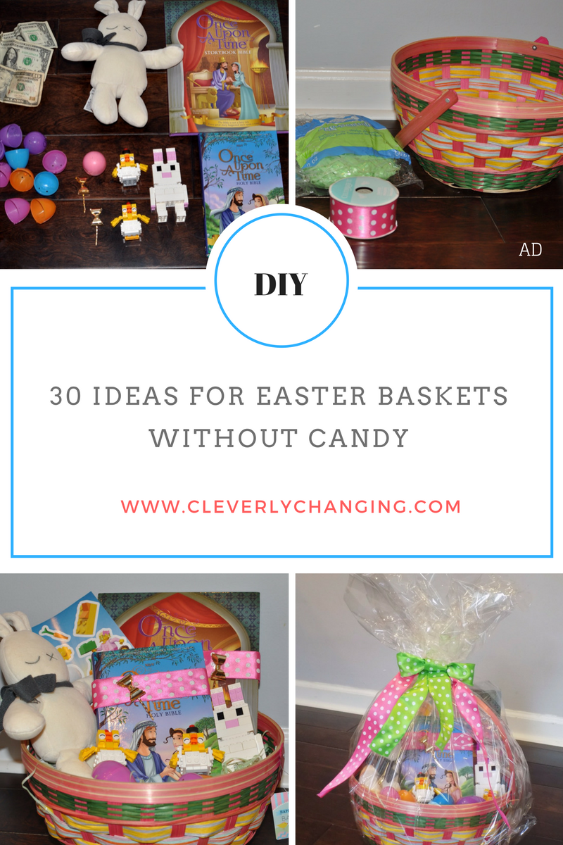 30 ideas for easter baskets without candy easter baskets easter 30 ideas for easter baskets without candy chocolate negle Image collections