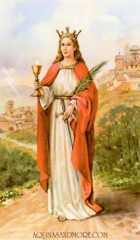 St Barbara Prayer Card Aquinas And More Catholic Gifts Saint Barbara Prayer Cards Santa Barbara