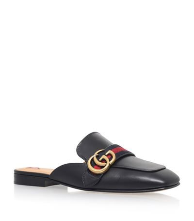 33a65249cb4 Gucci Peyton Slide Loafers available to buy at Harrods. Shop women's  designer shoes online and earn Rewards points.
