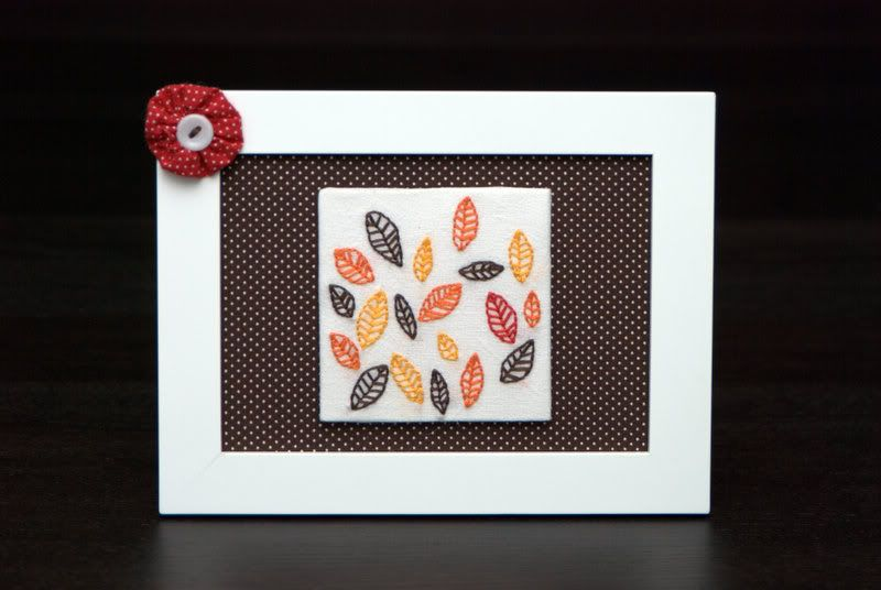 Autumn leaves are falling down - NEEDLEWORK  So sweet!