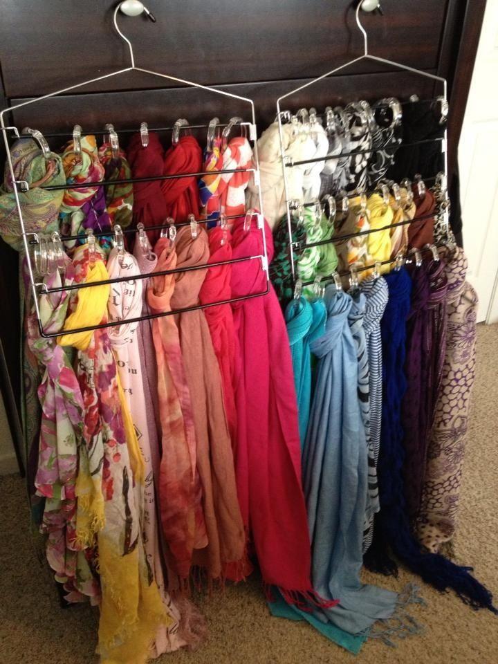 Must Do Scarf Storage Scarf Organization Closet Organization