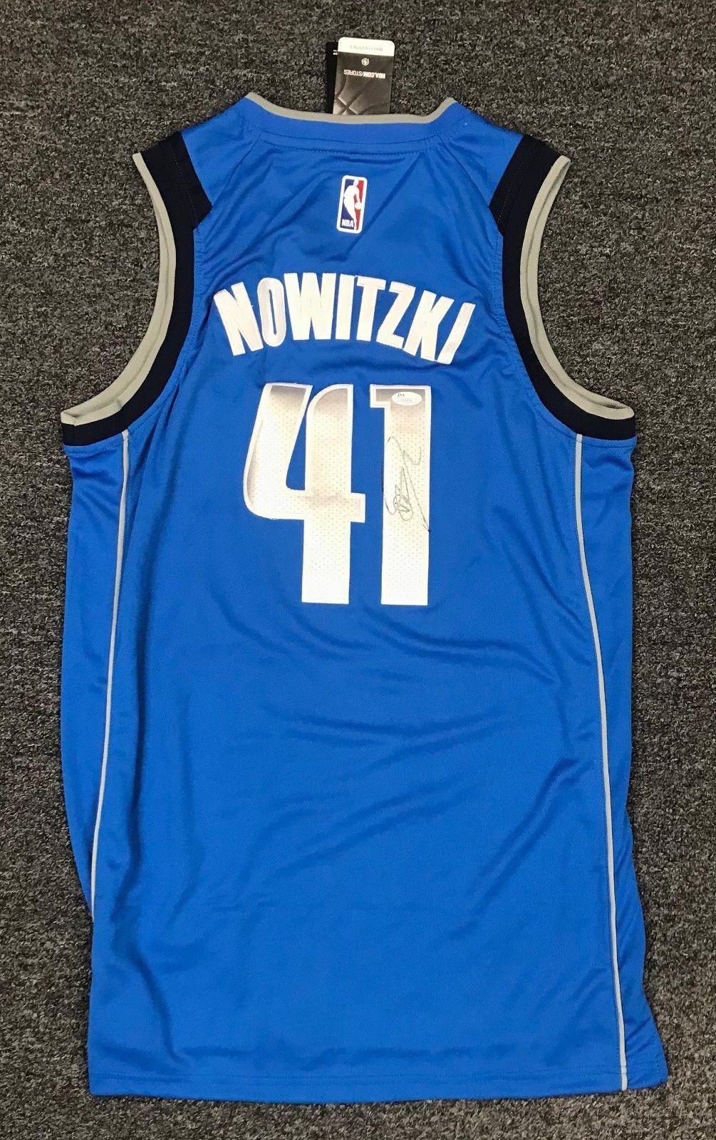 db7122686 Dirk Nowitzki  41 Signed Dallas Mavericks Jersey Autograph AUTO Sz 50 JSA  COA  Basketball