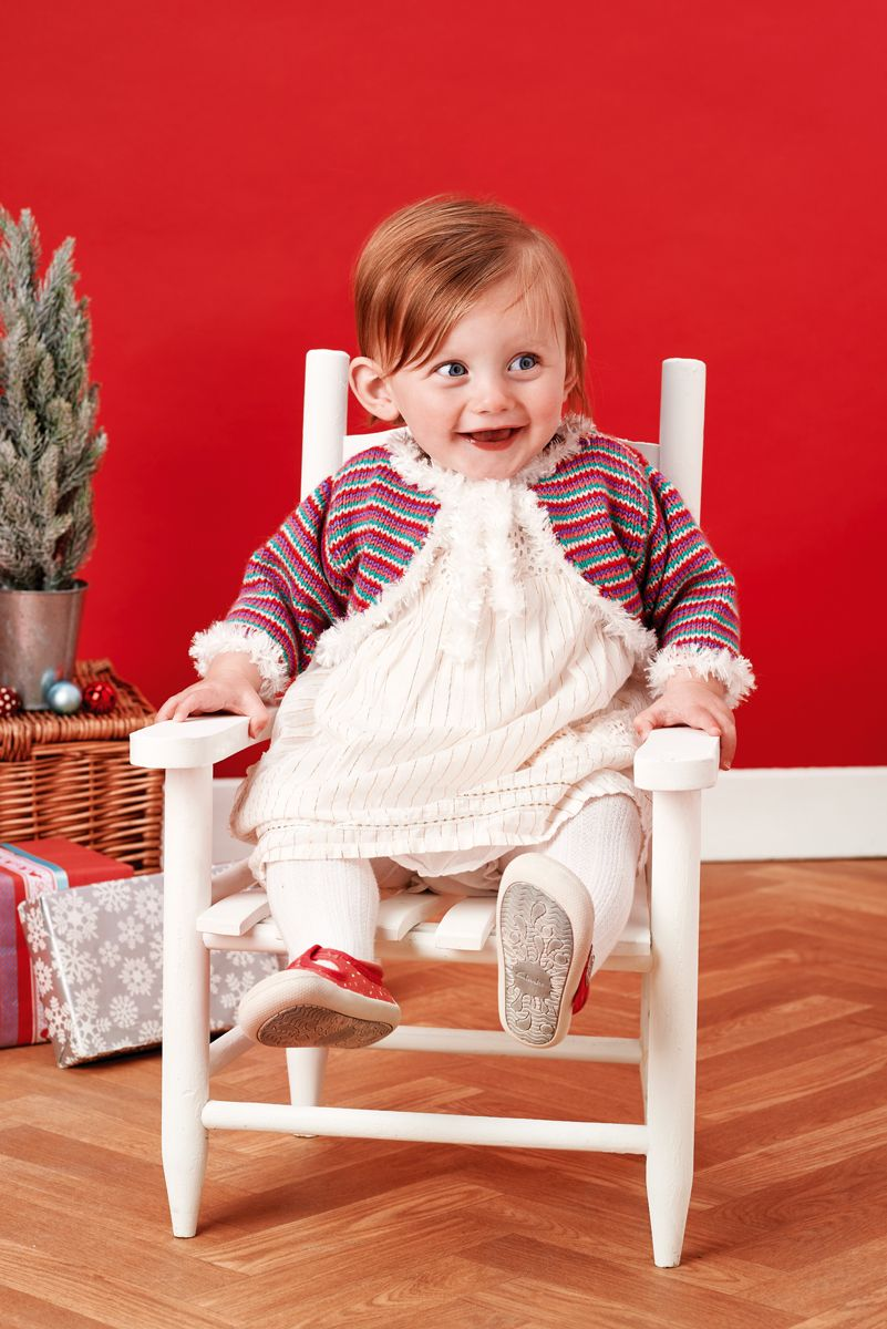 Knit our stripy Christmas cardigan – for 6-9 months! // Let\'s Get ...