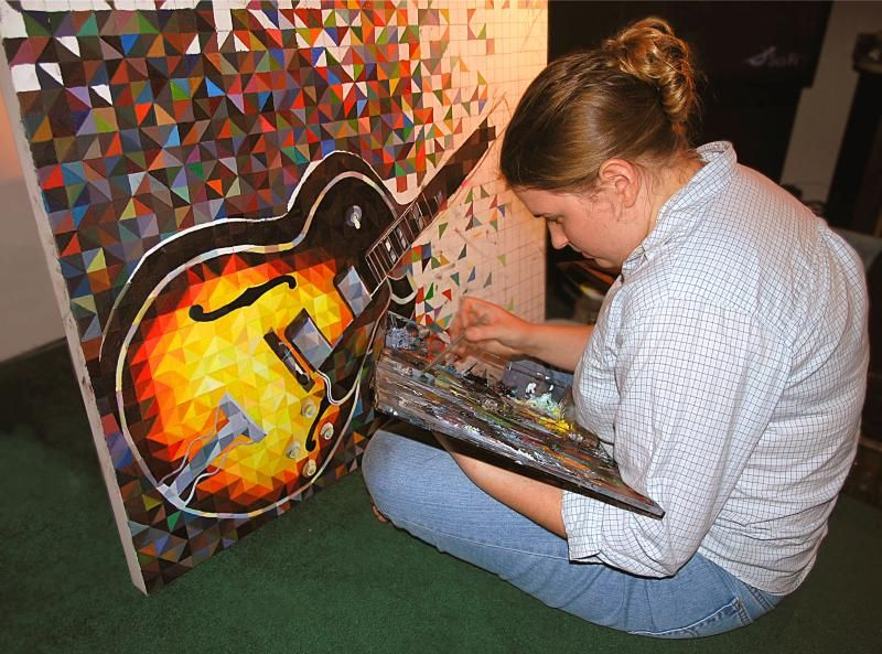 ... Chester | all galleries >> Guitars > Laura Painting Gibson 175 Guitar