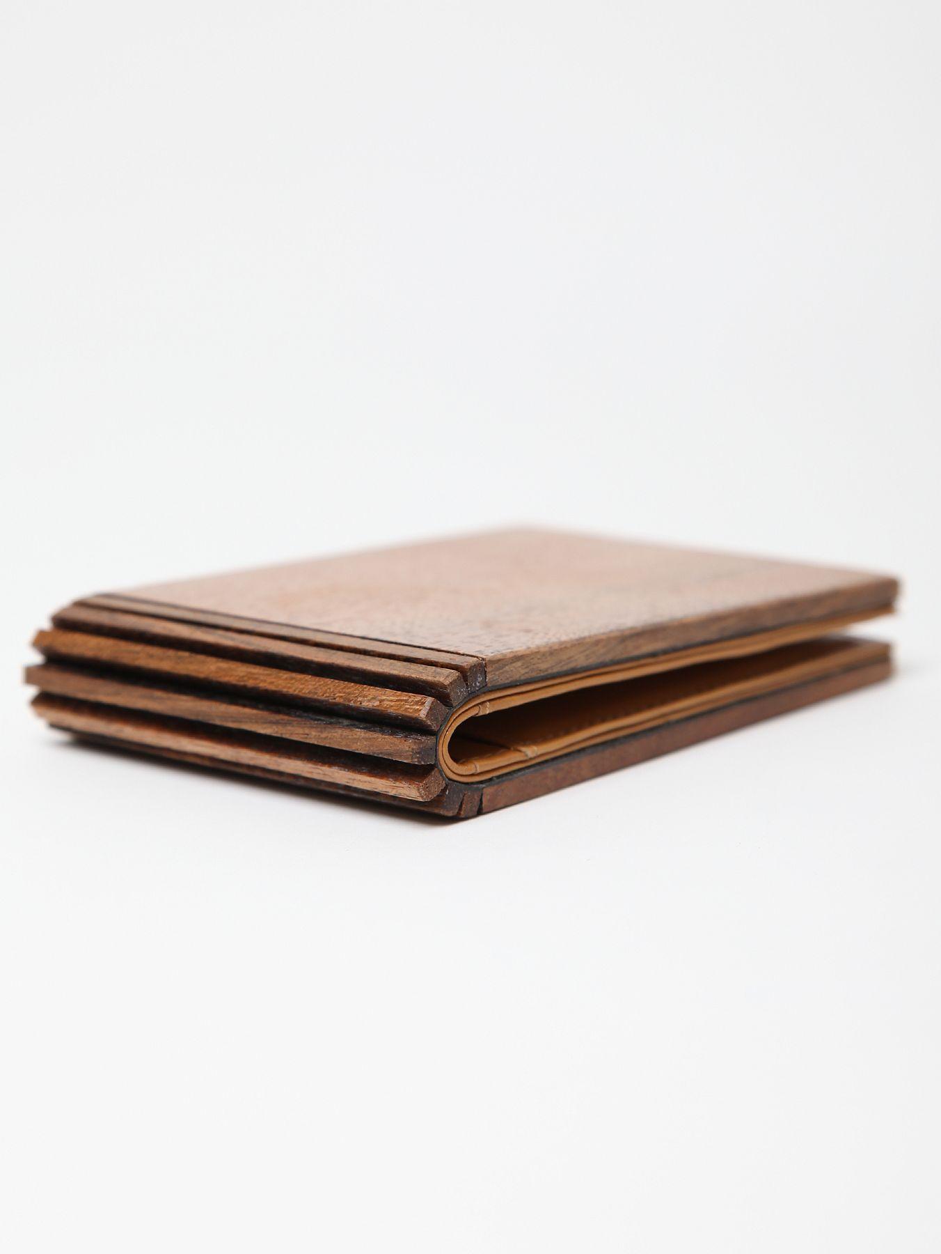 wood card holder wallet by maison martin margiela | ELYTS ...
