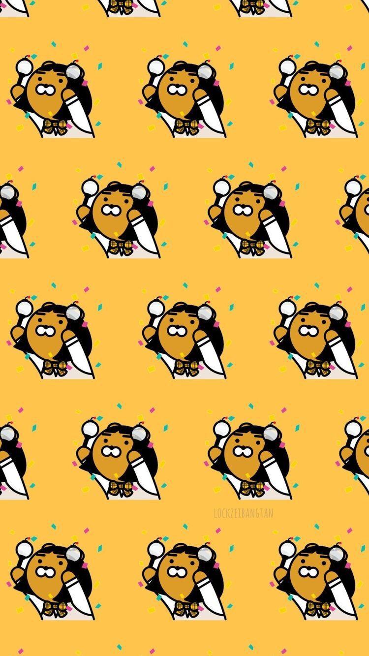 Pin by 𝑠𝑣𝑓𝑡 𝑏𝑙𝑢𝑠ℎ on wallpapers Kakao friends, Ryan bear
