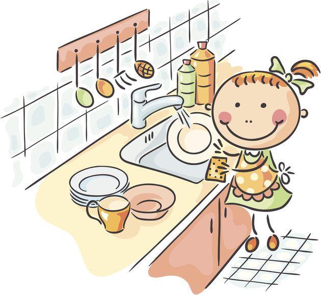 Днем рождения, картинки домашние дела для детей
