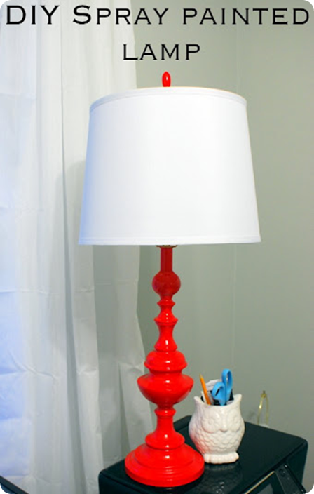 Red Painted Lamp Painting Lamps Spray Paint Lamps Diy Spray Paint