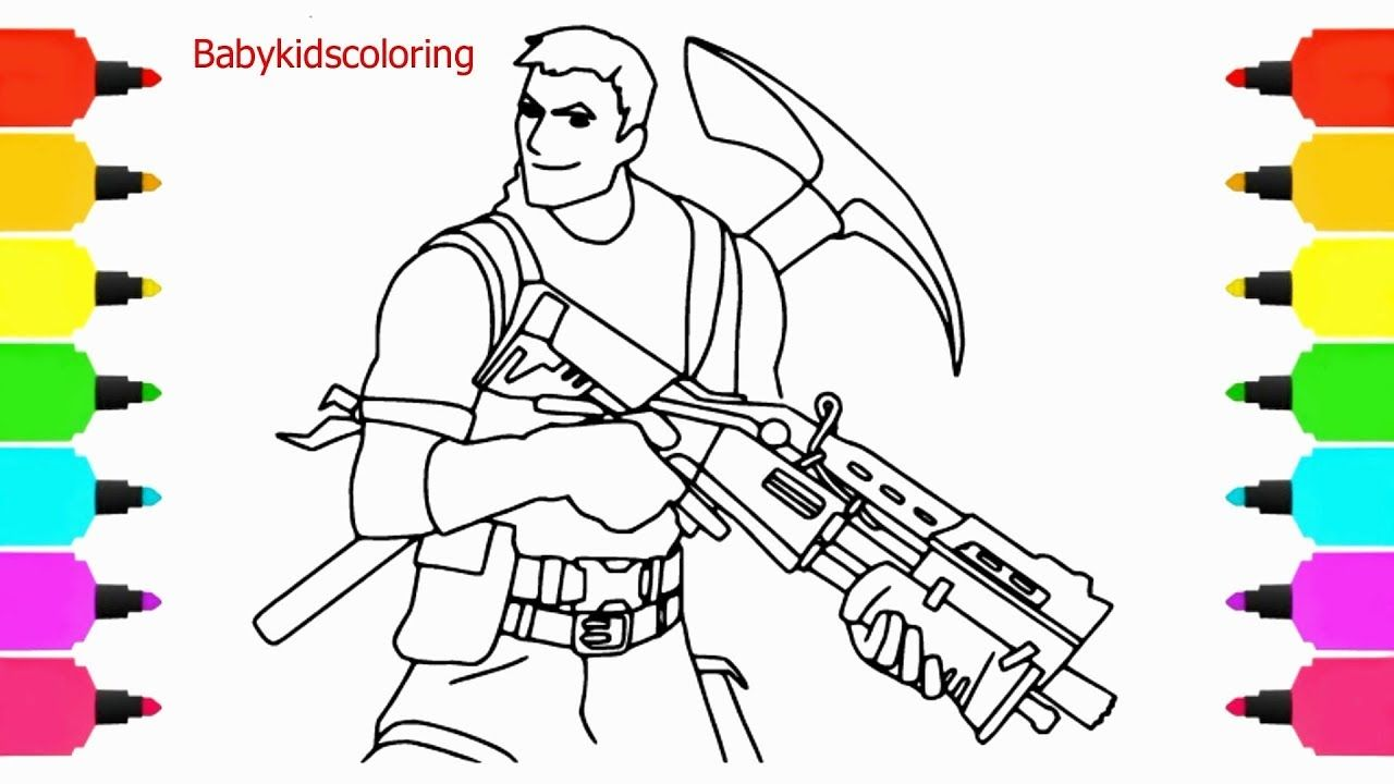 How To Draw Survivalist From Fortnite Video Game Fortnite