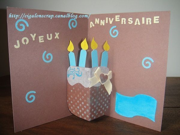 Carte anniversaire 27ans pop up cartes pinterest - Carte pop up facile ...