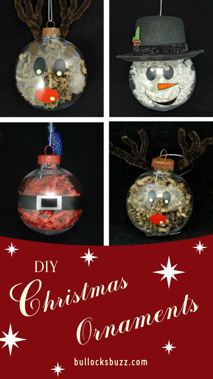 DIY Christmas Ornaments Crinkle Paper Shreds