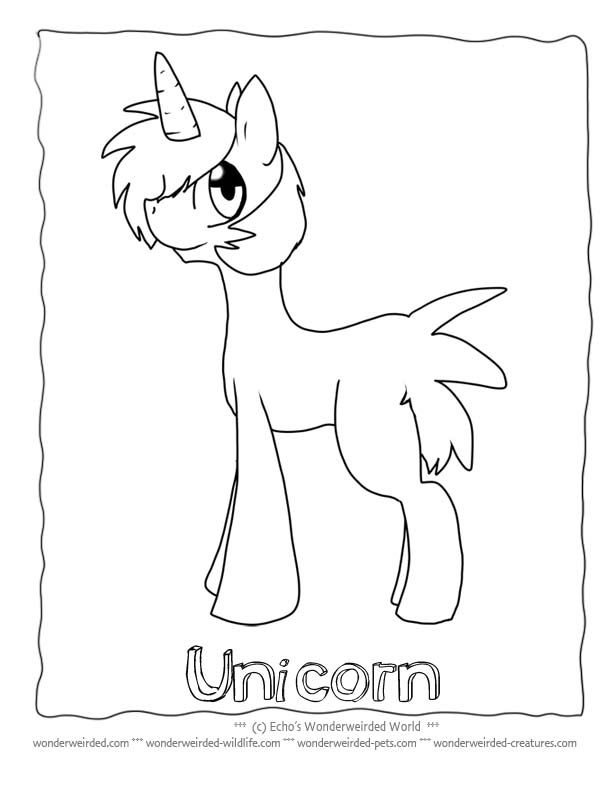 Unicorn Coloring Pages for Kids FREE to print at www.wonderweirded ...