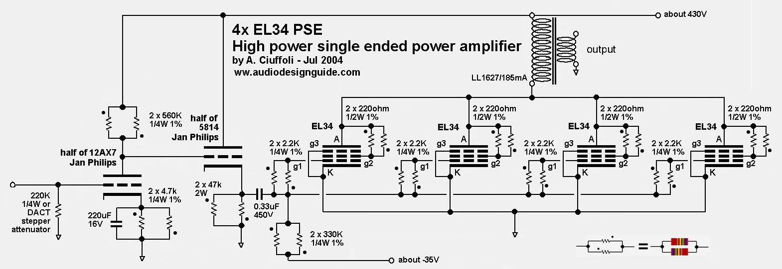 Audiodesignguide.com -la nouvelle EL34 parallèle Asymétrique