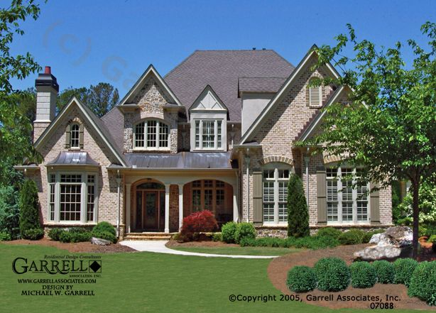 Monet Manor House Plan 07088 French Country House Plans Country