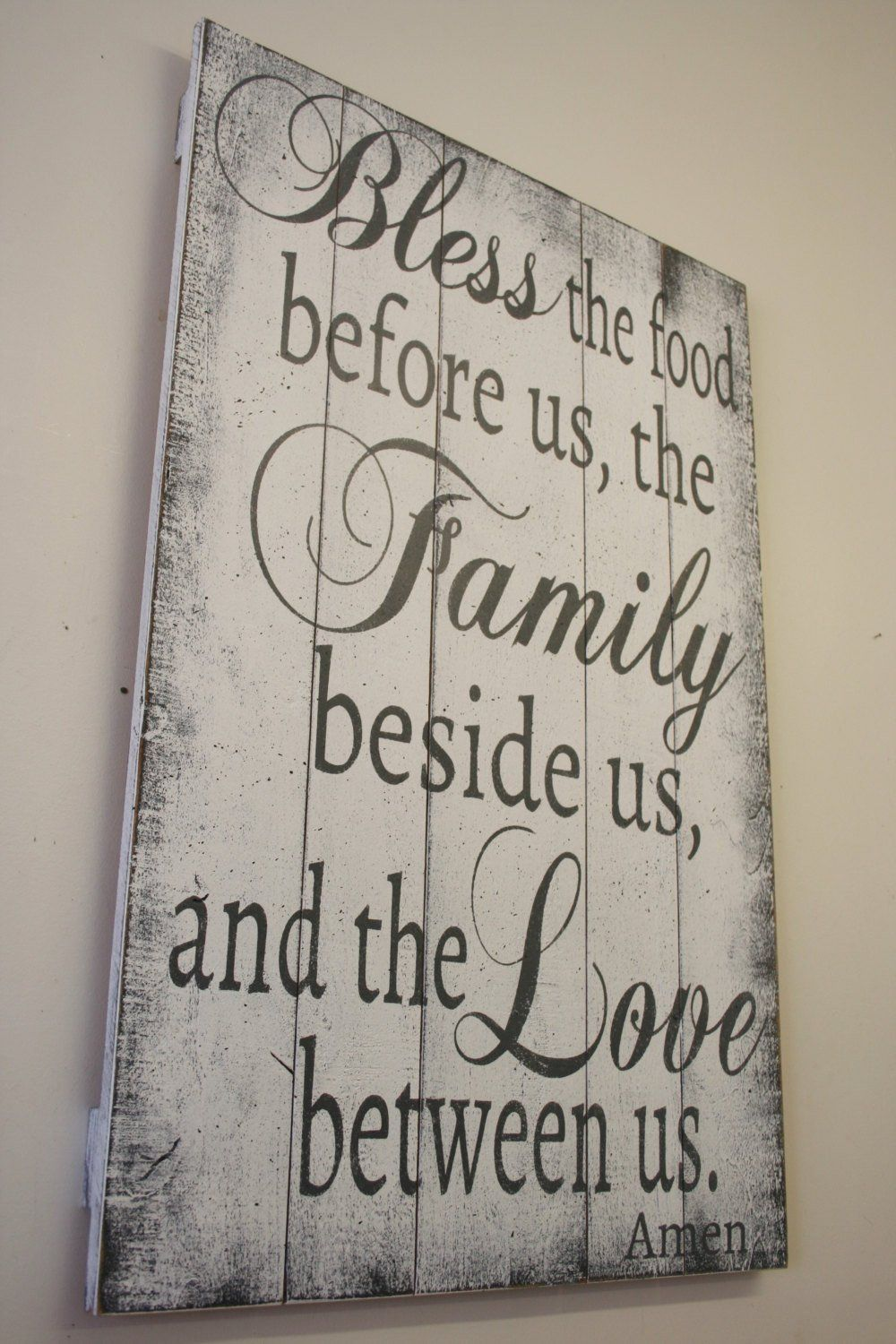 Bless The Food Wood Sign Kitchen Dining Room Decor images